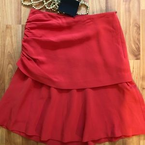 NWT Massimo Dutti red skirt size 4